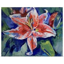 Poster Print Wall Art entitled Tiger Lily
