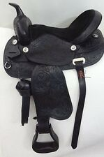 "Genuine Leather Beautiful Western Horse Saddle unisex 16"" / 17"""