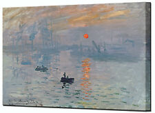 Sunrise Canvas Print by Monet Soleil Levant Quality Framed Wall Art Picture