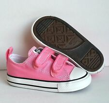 Converse Chuck Taylor Pink 2 Strap 2V OX Infant Toddler Girls Shoes Size 2-10