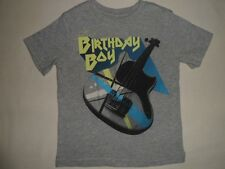 BABY GAP Grey BIRTHDAY BOY Guitar Graphic Top Tee Shirt NWT 2 3 5 2T 3T 5T