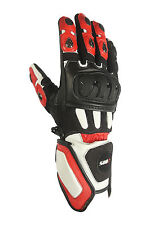 New Motorcycle Gloves Leather motorcycle gloves black red Size M L XL 2XL