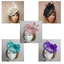 Feather Alice Band Fascinator Hair Headband Wedding Ladies Day Race Royal Ascot