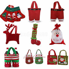 Christmas Santa Pants Elf Spirit Decoration Xmas Gift Bags Candy Pouch Stocking