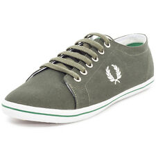 Fred Perry Kingston Twill Mens Canvas Forest Trainers
