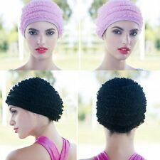 Trendy Flexible Swim Caps Adult Polyester Swimming Swim Lace Cap Bathing Hats