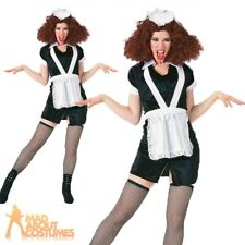 Adult Rocky Horror Magenta Costume Ladies Maid Fancy Dress Outfit New