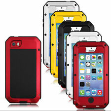 Aluminum Gorilla Glass Metal Waterproof Shockproof Case Cover For Apple iPhone