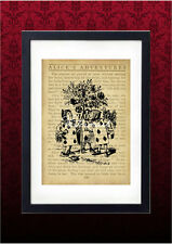 Vintage Art Print - Alice in Wonderland Archival Nursery Wall Art Painting Roses