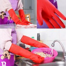 1Pair Durable Latex Kitchen Long Gloves Dish Cleaning Household Washing Up H46