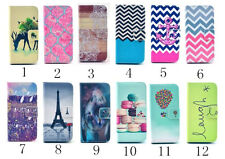 Pattern Wallet Stand Flip Slim Magnetic Leather Case For iPhone 5S 5C 6S 6 Plus