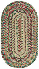 Capel Rugs Sherwood Forest Wool Braided Country Area Throw Rug #150 Wheat