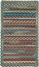 Capel Rugs St.Johnsbury Wool Double Braided Cross Sewn Rectangle Rug Colony Blue