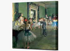 The Dance Class Canvas Print by Edgar Degas Ready To Hang Wall Art Picture