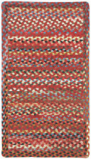 Capel Rugs St.Johnsbury Wool Double Braided Cross Sewn Rectangle Rug Country Red