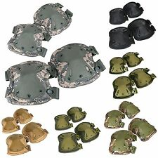 Airsoft Tactical Adjustable Combat Knee and Elbow Protector Pads Set Skate Pads