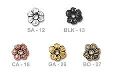 TierraCast Apple Blossom Rivetable Bead - pewter nature flower beads