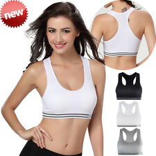 Seamless Yoga Sports Bra Crop Top Vest Comfort Stretch Bras Shapewear Padded UK