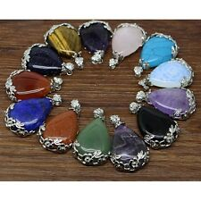 Natural Alloy Gemstone Stone Women Pendant Pendant Necklace Plated Jewelry Hot