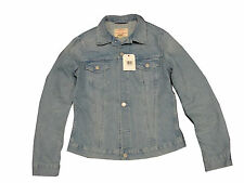LADIES LEVIS RED TAB FITTED DENIM JACKET - LIGHT WASH BLUE