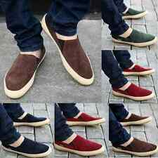 Men 's Canvas Slip On Shoes Sneakers Loafers Moccasins Casual Driving Shoes New