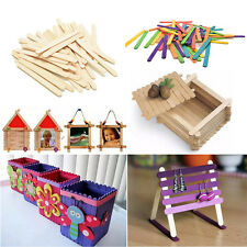 50/100/200X Wooden Lollipop Popsicle Ice Lolly Sticks Arts Cake Craft Models 1X