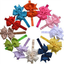 2PCS Baby Kids Elastic Bow Knot Flower Hairband Photography Headbands Hair