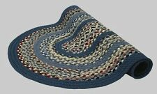 New Englands Minuteman Wool Country Oval Braided Rug Blue Red Grey Multi #9