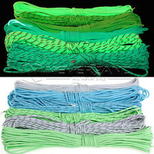 550 Paracord Parachute Cord Luminous Glow in the Dark & Reflective 7 Core Strand