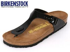 BIRKENSTOCK ARIZONA  GIZEH  PATENT WHITE /  BLACK 6 7 8 9 10 11 12 13 14 15 NEW