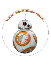 "BB-8 Personalised Cake Topper A4/7.5"" Wafer paper/Icing sheet"