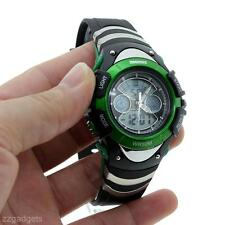 Cool Kids Boys/Grils Student Dual Time Digital Analog LCD Date Alarm Wrist Watch
