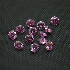 20pcs Brilliant Round Cut Pink Colour CZ Loose Cubic Zirconia Stone AAA Quality