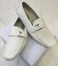 MEN GIOVANNI DRESS SHOES Loafer Casual Italian Slip-On Solid WHITE NEW HOT M9522