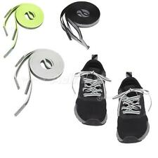 """2x Flat Reflective Sneakers Boot Shoe Laces Strings Shoelace Bootlaces 47"""" 120cm"""
