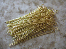 Silver/Gold Plated Eye Pins Needles Jewelry Findings 20 25 30 35 40 50mm