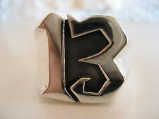 NUMBER 13 BIKER LUCKY NUMBER BIKER RING SEAL RING SILVER RING 925 SILVER / 107