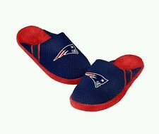New England Patriots NFL Men's Navy Blue Jersey Slippers/Sandals/Shoes: L-XL