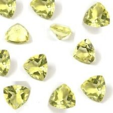 Natural Lemon Quartz Faceted Trillion Calibrated Size 4mm- 20mm Loose Gemstone