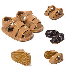 Fashionable Baby Boy Toddler Soft Sole Prewalker Sandals Kids PU Sandals Shoes