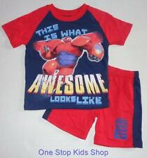 BIG HERO 6 Toddler Boys 2T 3T 4T 5T Set OUTFIT Shirt Shorts