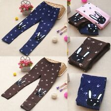 Lovely Toddler Kids Girl Warm Tight Leggings Cute Rabbit Style Casual Pants NEW