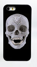 DIAMOND SKULL SKELETON BLACK PHONE CASE COVER FOR IPHONE 7 6S 6 PLUS 5C 5S 5 4