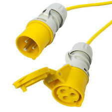 110v 16 amp Arctic Yellow Extension Cable. Site Hook Up Trailing Lead. TOUGH 50m