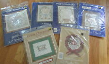 needles n hoops printed counted cross stitch kit retired or school days wreath