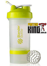 BLENDER BOTTLE PROSTAK 500ML CLEAR GREEN PROTEIN SHAKER CUP BPA FREE PRO STAK