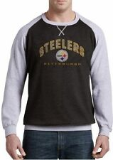 Pittsburgh Steelers NFL Mens Raglan Fleece Crew Sweatshirt Big & Tall Sizes