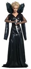 Deluxe Queen Ravenna Snow White & the Huntsman Black Sequin Dress Costume Womens