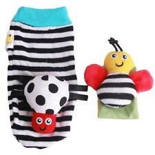 Baby Infants Animal Wrist Foot Socks Rattles Developmental Toys Finders HOT - SS