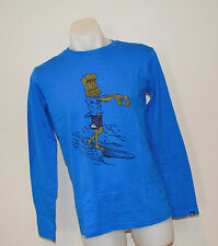 Quiksilver Boys Long Sleeve T Shirt- BLUE -SIZE - 8, 12 & 14  Years- NEW
